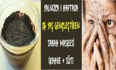 20 Yaş Gençleştiren Sabah Maskesi (Kahve+Süt Yüz Maskesi)