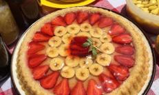 Meyveli jöleli Tart kek