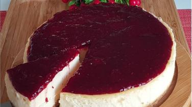 Frambuazlı vişneli Cheesecake