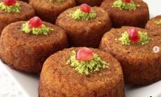 Kadayıflı Muffin kalıbında Kek Tatlısı